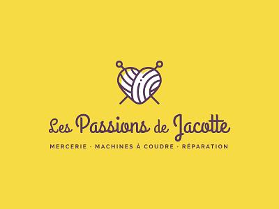 Les Passions de Jacotte elementor wordpress notions store haberdashery logo design brand identity brand design