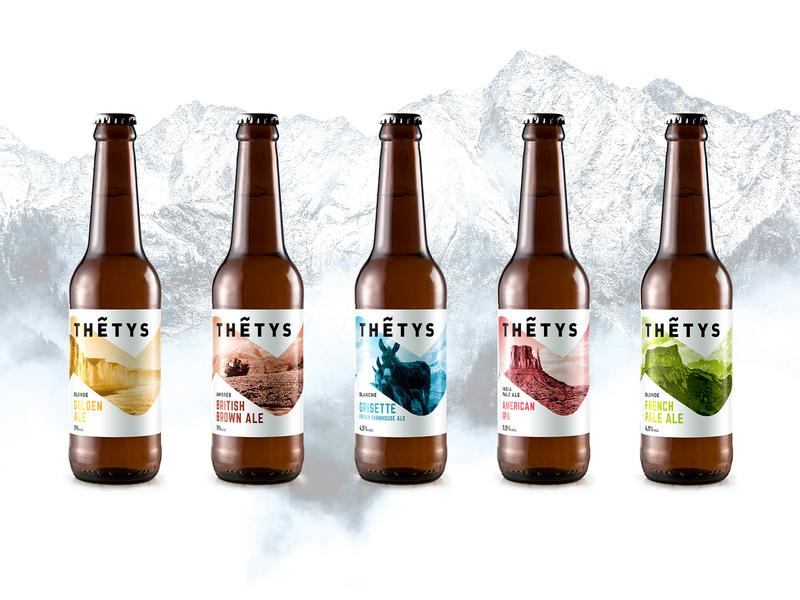 Brasserie Thétys • French Craft Beer graphic design brand identity logo brewery branding craftbeer craft brewery brewery craft beer brand design design
