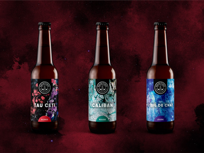 Beer label Galactique Brewery beer brand design graphic design brewery brand identity craft brewery craft beer brewery branding craftbeer design