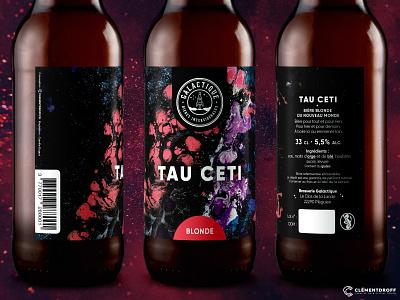 Tau Ceti - Beer label beer brand design branding brand identity craftbeer craft brewery brewery branding graphic design design craft beer beer label