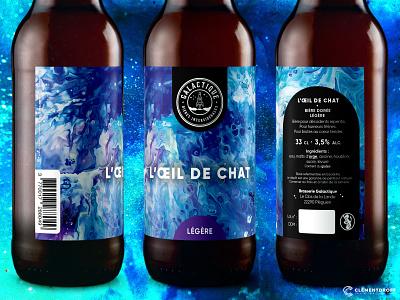 L'Oeil de chat - Beer label graphic design logo illustration brewery brewery branding craftbeer brand design brand identity craft brewery craft beer