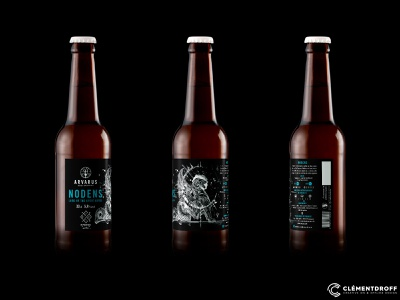 "Arvarus ""Nodens"" beer label beer craft beer brand identity craftbeer brewery branding craft brewery branding brewery brand design design"