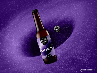 """""""Hyperion"""" Saison Beer by Galactique brewery brewery branding label packaging label design beer craft brewery brewery graphic design craftbeer branding brand identity craft beer"""