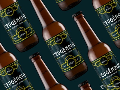 L'Eugénoise American Lager logo vector craftbeer brewery branding beer graphic design packaging label illustration brand identity brewery craft brewery branding brand design design craft beer