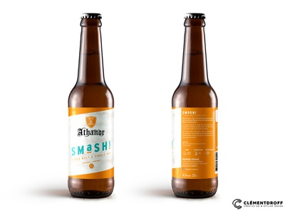 Athanor SMaSH! craft beer brand design brand identity design label design