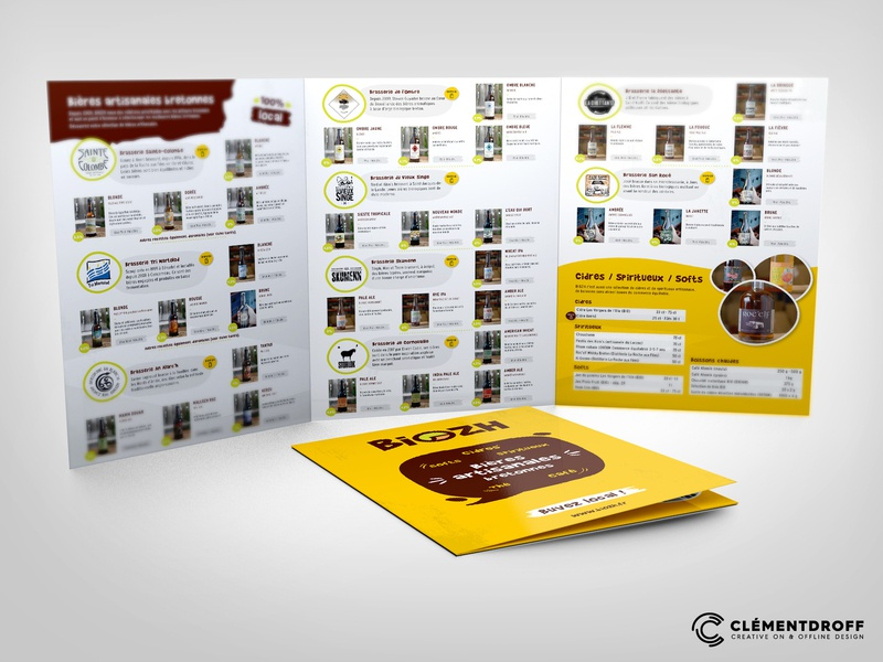 """Trifold Brochure for """"Biozh"""" Craft Beer Specialist trifold brochure brochure craft beer"""
