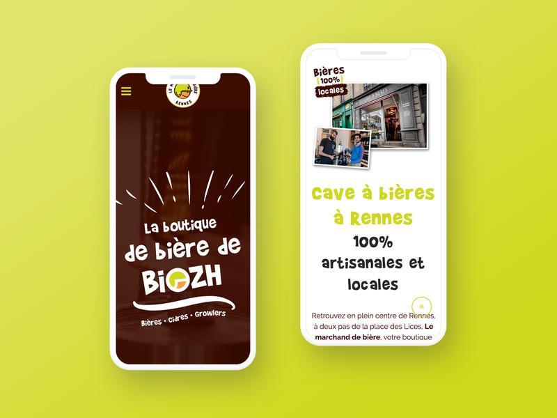 "One Page Website ""Le Marchand de Bière"" website webdesign brand design branding brand identity design craft beer"