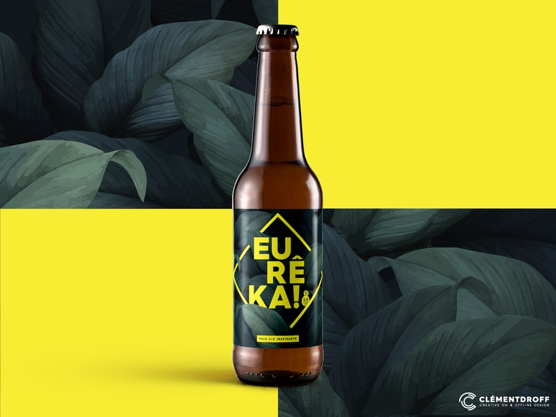 Eureka Pale Ale (Homebrewing project) package design packaging label packaging labeldesign labels design homebrew homebrewing craftbeer