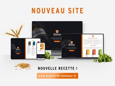 Website Athanor Brewery (2019) website design website ui branding brand identity craft beer brand design design