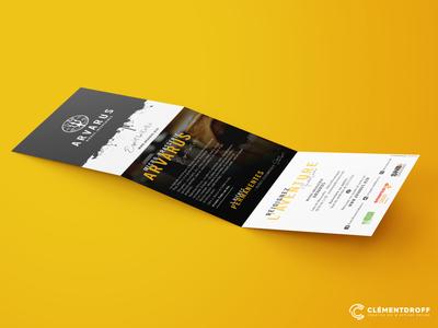Tri-fold Leaflet ARVARUS brewery