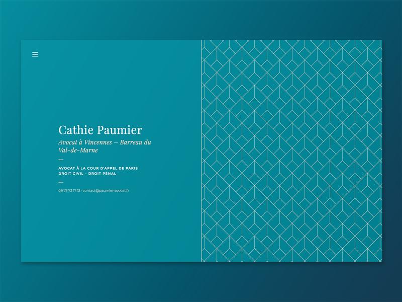 Site Web d'avocat Maître Cathie Paumier cms wordpress website branding web design webdesign web