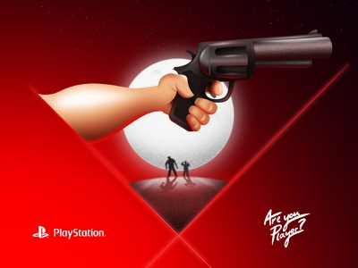 SONY - PlayStation / are you player lastofus ps4 photoshop sony playstation brand vodafone typography identity character lettering illustrator animation illustration digital design branding concept badge