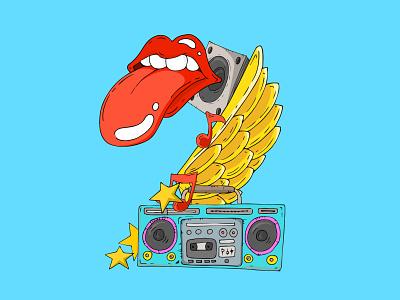 2 - Pozitif Lucky Numbers - Rolling Stones logo typography brand identity lettering animation design digital illustrator illustration character branding concept badge