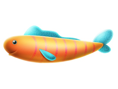 Philips - Picture of Your Heart fish brand character animation digital design concept branding badge illustrator illustration