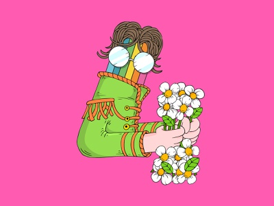 4 - Pozitif Lucky Numbers - John Lennon beatles icon logo mobile typography brand lettering identity character animation design digital concept badge branding illustration illustrator