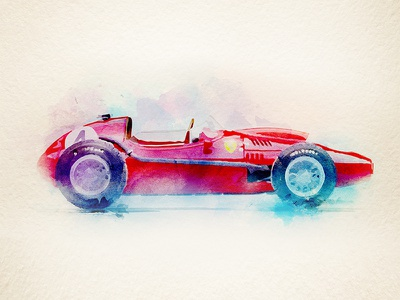 Ferrari 246 ink lettering concept water color illustrator digital design illustration formula f1 car ferrari