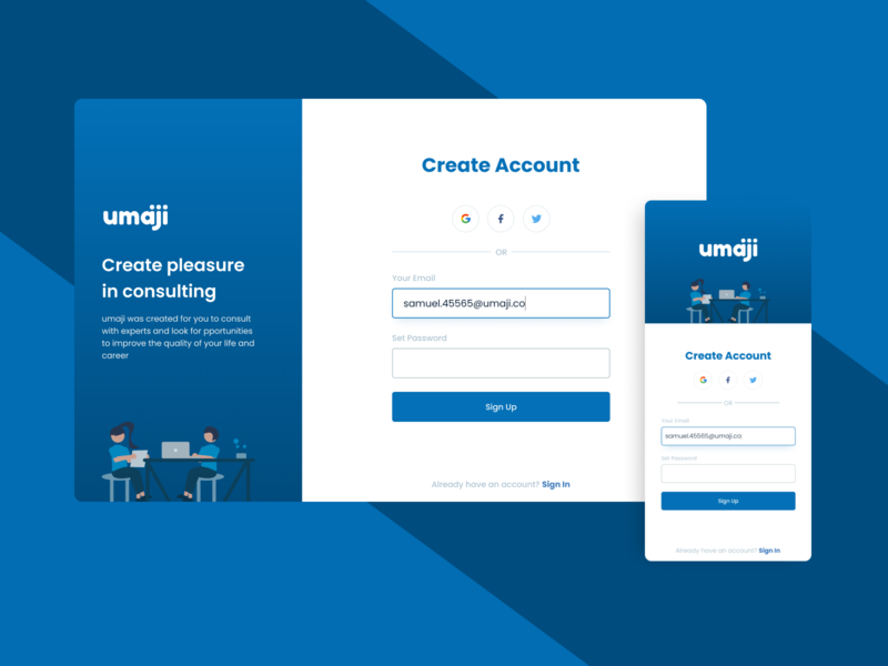 DailyUI001-Signup daily ui 001 dailyui design inspiration consult design consulting register design signup design webdesign mobile design mobile ui responsive register signup
