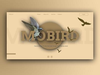 Mobird mobird photoshop brown bird ux uiux ui website design website web webdesign web design