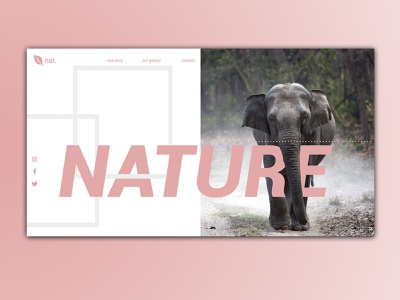 Nature naure ux uiux ui photoshop website design websites web designer website webdesign web