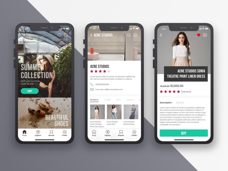 Marketplace App Concept marketplace ux design ui design