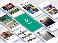 Pexel App mobile Interface