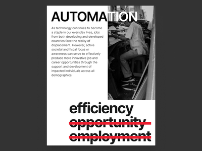 Automation - Poster abstract greyscale minimal poster design automation poster