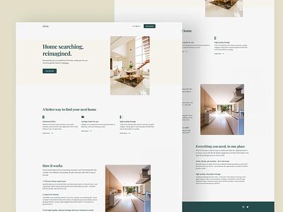 abode. Landing Page mvp landing page figma design minimal