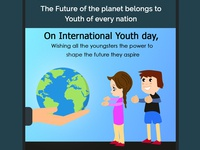 International Youth Day ui 2d iconlogo adobe photoshop logo logodesign graphicdesign photoshop flat adobe