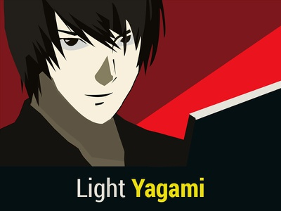 Light Yagami | Awesome character | Death Note series | illustrator 2d iconlogo adobe photoshop logo logodesign graphicdesign flat photoshop adobe