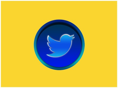 3D icon Twitter