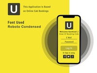 U Application is based on online cab booking |
