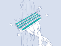 Boldking illustration TV commercial shave drawing hand simple blade water cleaning shaving illustration boldking