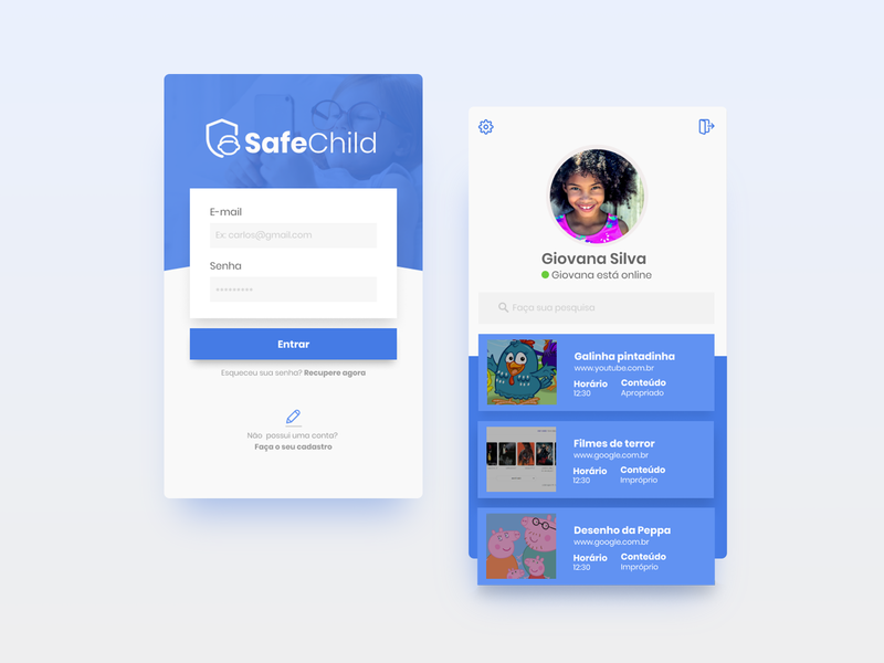 Safe Child App uidesign mobile ui ui design userinterface mobile ux ui app