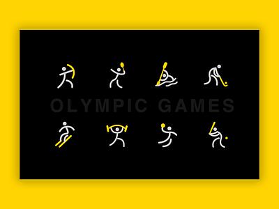Olympic Games vector icon logo ui illustration design