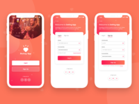 Dating Mobile App - Sign In / Sign Up