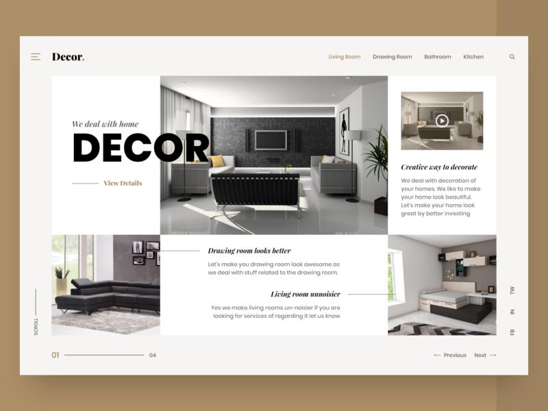 Home Decor Web Ui By Umair Tanveer On Dribbble