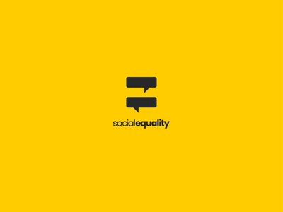 Social Equality communication equal social media platform social media social  equality equality social design logodesigns logos logodesign logo