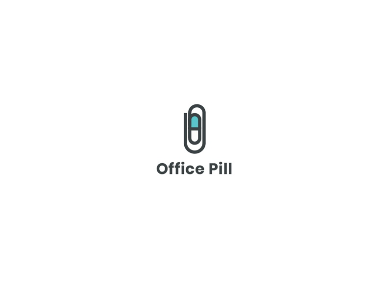 Office Pill co-working coworking space coworking medicines pills medical medicinal medicine health office pill concept logo design illustration logodesigns logotype logodesign logos logo
