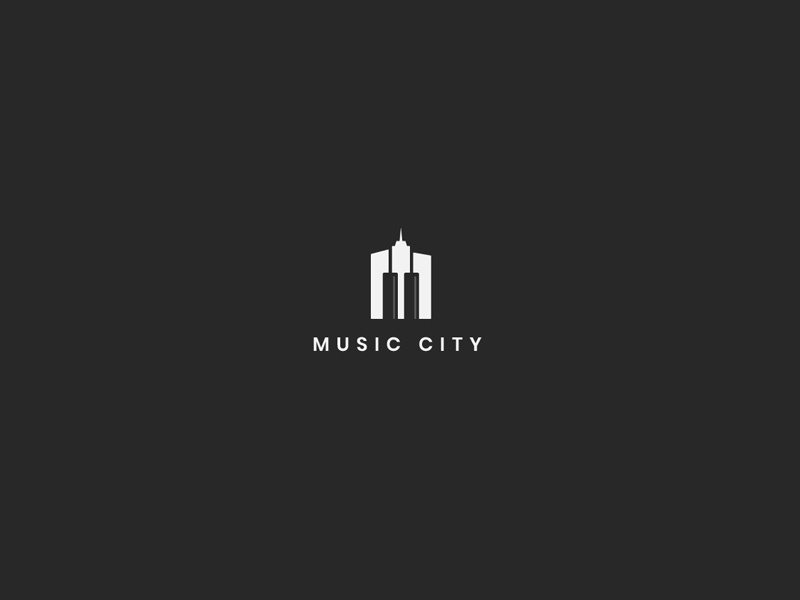 Music City piano musical note musical music album music city city musicians musician music art music artwork music app music typography design illustration logotype logodesigns logodesign logos logo