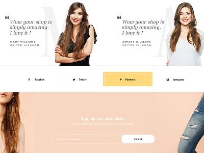 New Theme in Progress design website new woocommerce social testimonials newsletter theme themeforest shop