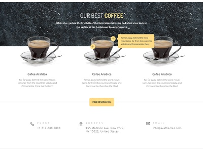 Who's for some Coffee ? coffee page page website coffee avathemes newtheme themeforest