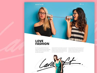 Love Fashion ! beautiful girls signature blue pink fashion page webiste avathemes newtheme themeforest