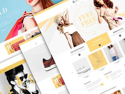 Bold & Fresh fresh bold beautiful girls blue pink fashion page website avathemes newtheme themeforest