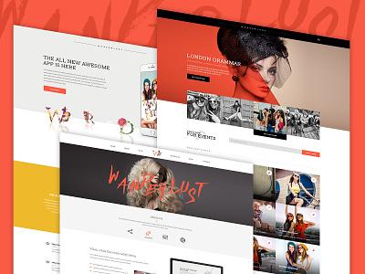Color is fun  fresh bold beautiful girl fashion page website avathemes newtheme themeforest