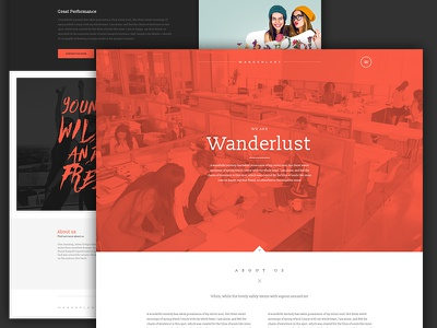 It's all in the details girls office orange colorful fresh bold beautiful page website avathemes newtheme themeforest