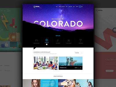 MDNA - Responsive Wordpress Template modern clean bold beautiful avathemes new theme themeforest