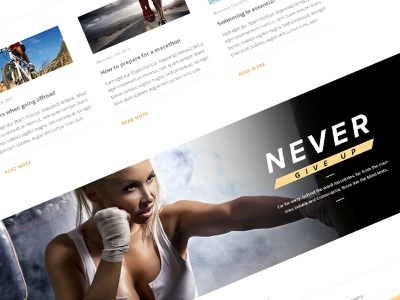 Never Give Up sport modern clean bold beautiful avathemes new theme themeforest