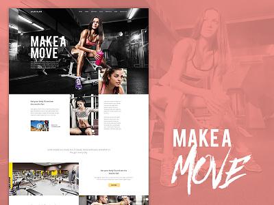 Make A Move girl gym modern clean bold beautiful avathemes new theme themeforest
