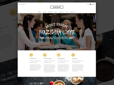 Coffee Time fresh coffee beautiful unique coming soon sneak preview new design new theme themeforest