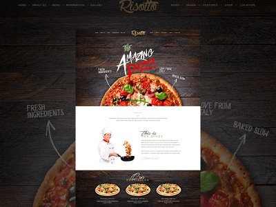 It's all about the Pizza pizza fresh amazing tasty restuarant food modern clean bold beautiful new theme themeforest